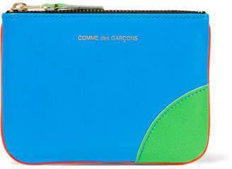 Comme des Garçons - Super Fluo Neon Leather Wallet - Blue $105 thestylecure.com