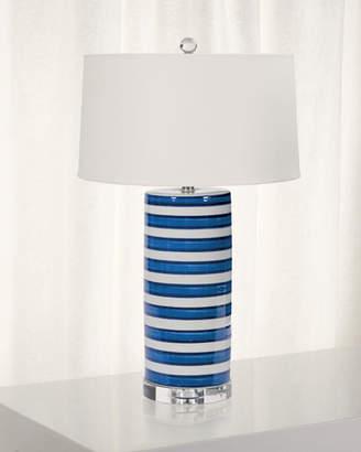 Regina-Andrew Design Regina Andrew Design Striped Ceramic Column Table Lamp