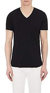 Barneys New York Men's Cotton-Blend V-Neck T-Shirt - Black