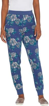 Denim & Co. Active Regular Floral Print French Terry Jogger Pant