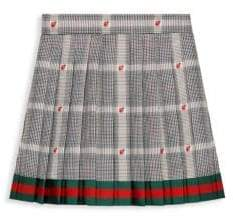 Gucci Little Girl's& Girl's Prices Gales Pleated Plaid Ladybug Skirt
