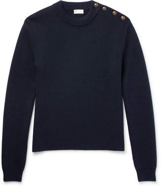 Saint Laurent Button-Detailed Wool Sweater