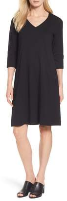 Eileen Fisher Stretch Organic Cotton Jersey Shift Dress