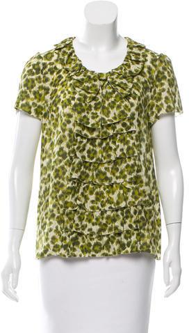 Kate SpadeKate Spade New York Leopard Print Silk Top
