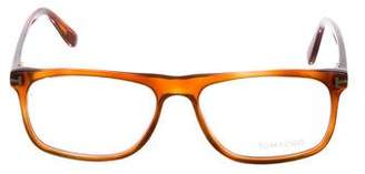 Tom Ford Clear Rectangle Eyeglasses