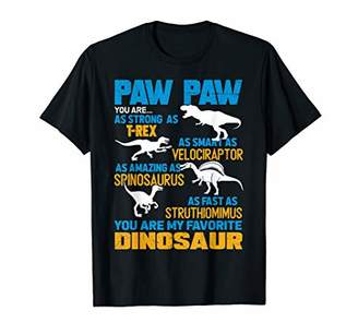 Paw Paw You Are My Favorite Dinosaur Shirt Fathers Day Gift