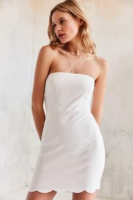 Kimchi Blue Scallop-Edge Ponte Strapless Dress $59 thestylecure.com
