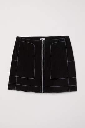 H&M Short Suede Skirt - Black