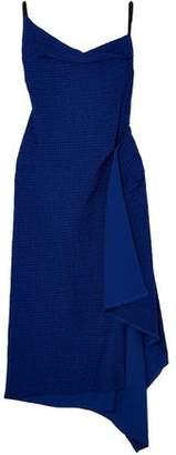 Roland Mouret Draped Cotton-blend Boucle Dress