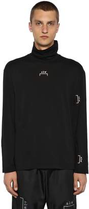 A-Cold-Wall* Turtleneck Jersey T-Shirt W/ Back Zips