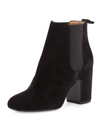 Laurence Dacade Mia Suede 85mm Chelsea Boot, Black $985 thestylecure.com