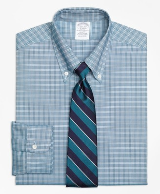 Brooks Brothers Original Polo Button-Down Oxford Regent Fitted Dress Shirt, Twin Check