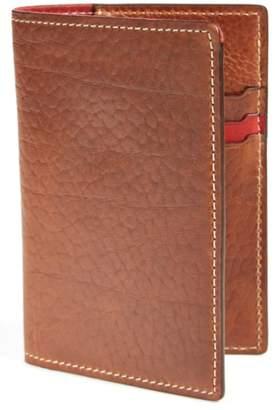Trask 'Jackson' Bison Leather Passport Holder