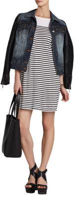 BCBGMAXAZRIA Tabia Drop-Sleeve High-Low Hem Dress