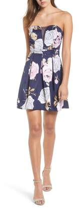 Speechless Floral Strapless Dress