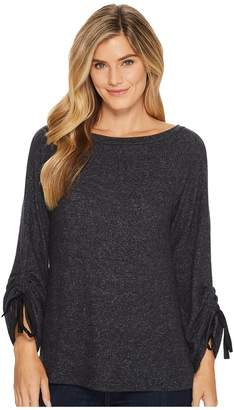 Bobeau B Collection by Jessa Tie Sleeve Cozy Top Women's Long Sleeve Pullover