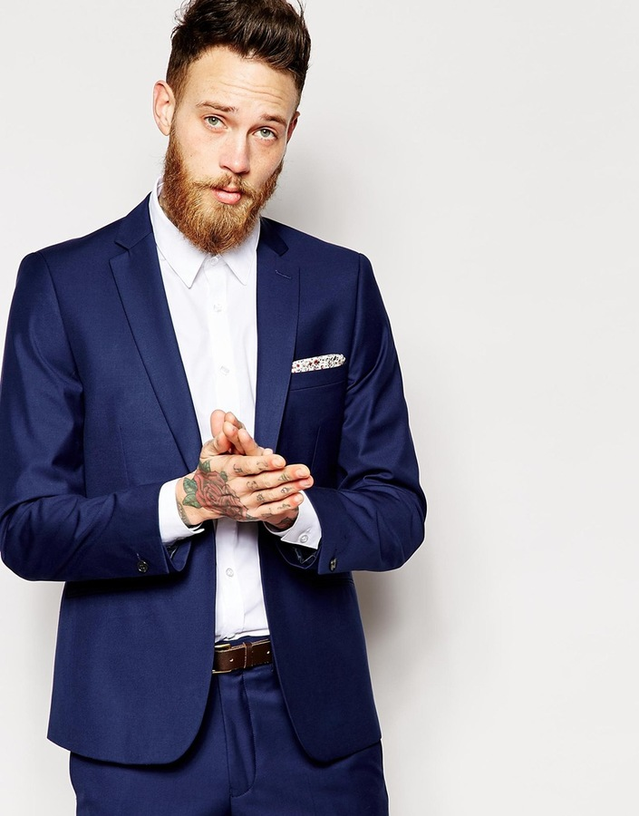 French Connection Suit Jacket Notch - Blue