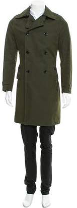 Reiss Double-Breasted Trench Coat