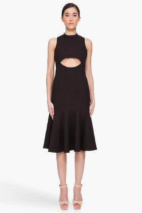 CARVEN Black Cutout Front Dress