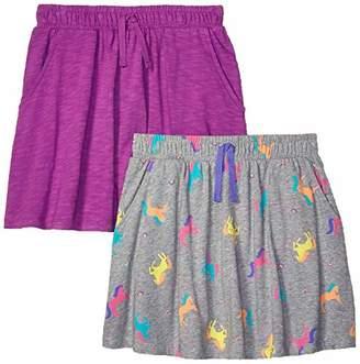 Amazon Brand - Spotted Zebra Girls' 2-Pack Knit Twirl Scooter Skirts