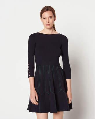 Sandro Fur Dress