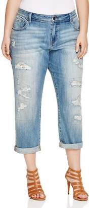 Lucky Brand Plus Reese Distressed Boyfriend Jeans in San Marcos