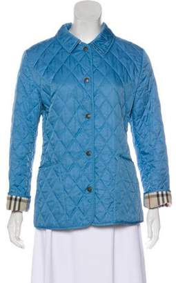 Burberry Quilted Snap-Front Jacket