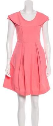 Miu Miu Pleated Mini Dress Pink Pleated Mini Dress