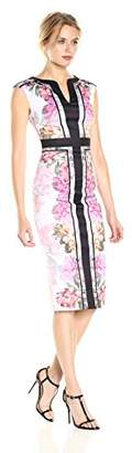 Ted Baker Women's Shawnie Painted Posie Fitted Midi DRS