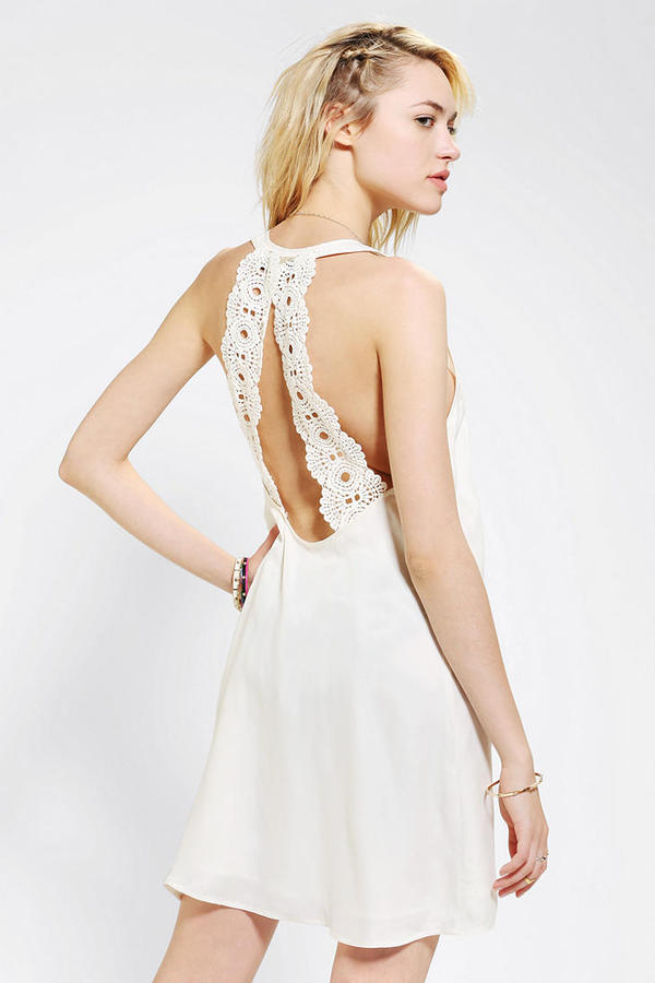 UO Stone Cold Fox X Crochet-Back Dress