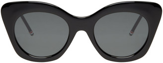 Thom Browne Black Cat-Eye Sunglasses $525 thestylecure.com