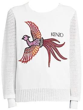 Kenzo Women's Mesh Embroidered Sweater