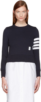 Thom Browne Navy Classic Pullover $495 thestylecure.com