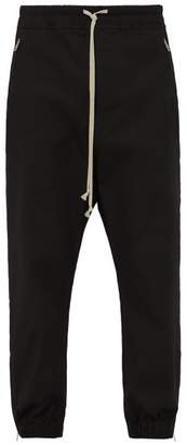 Rick Owens Zipped Cuff Stretch Cotton Track Pants - Mens - Black