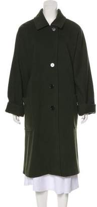 Halston Wool-Blend Long Coat