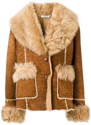 P.A.R.O.S.H. shearling trim jacket