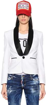 DSQUARED2 Single Breasted Tuxedo & Satin Jacket