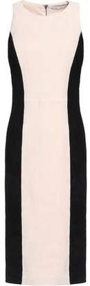 Alice + Olivia Alice+olivia Two-Tone Suede Dress