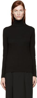 Yohji Yamamoto Black Turtleneck Shirt $490 thestylecure.com