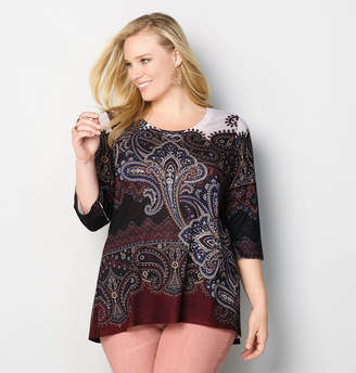 Avenue Paisley Hacci Top