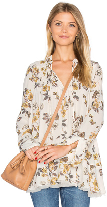 Free People Pebble Crepe So Fine Smocked Tunic Top $108 thestylecure.com