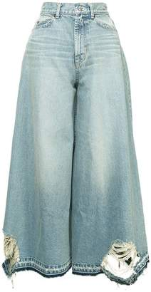 Puma Maison Yasuhiro distressed wide-leg jeans
