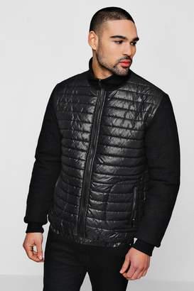 boohoo Quilted Body Zip Through Jacket