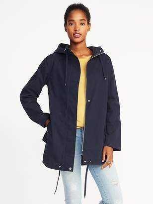 Old Navy Hooded Canvas Water-Resistant Jacket for Women