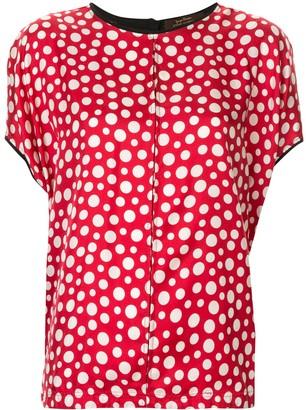 Louis Vuitton Pre-Owned silk polka dots blouse
