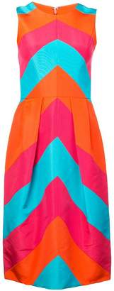 Carolina Herrera chevron dress