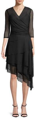 Milly Mimi Point d'Esprit A-Line Dress