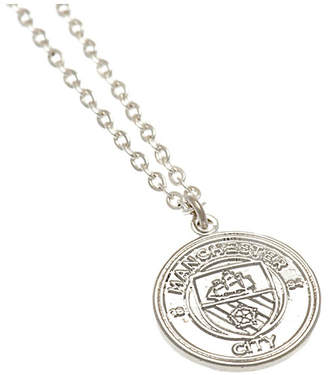 Manchester City Silver Plated Man City Pendant and Chain