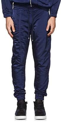 Filling Pieces Men's Tech-Satin Ankle-Zip Jogger Pants