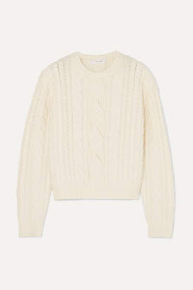 Frame Cable-knit Wool-blend Sweater - Off-white ac65316f3